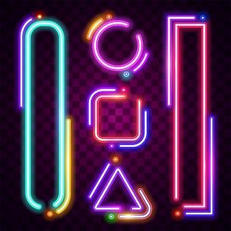 Neonrahmen design.