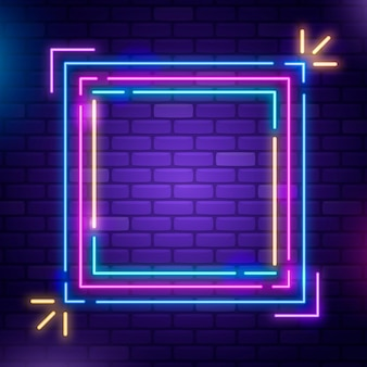 Neonrahmendesign