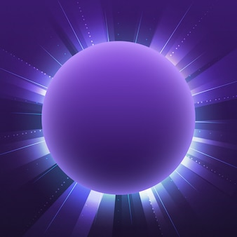 Neonschildvektor des leeren violetten kreises