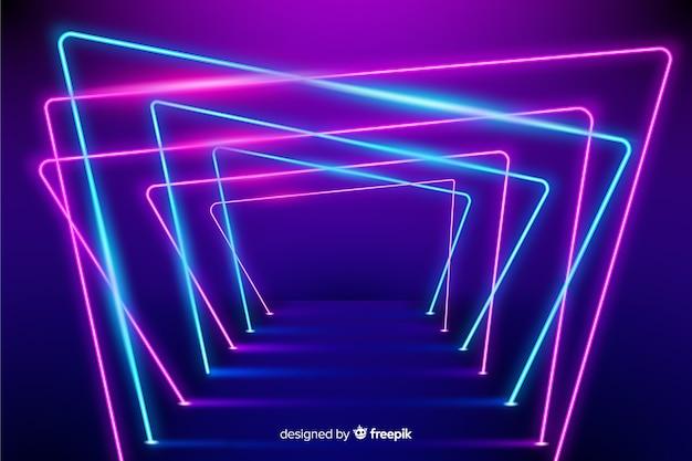 Neonstufe beleuchtet hintergrund