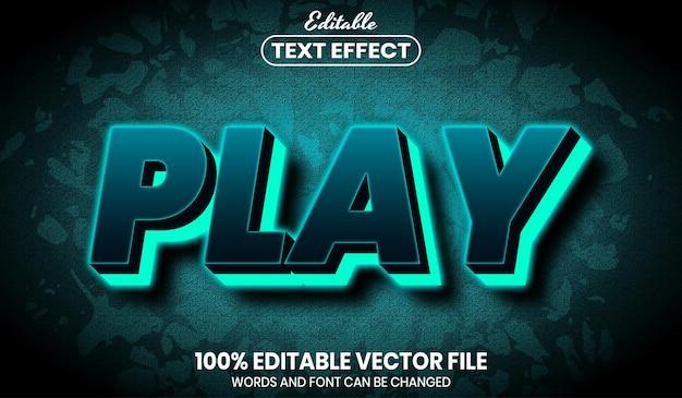 Neontext abspielen, bearbeitbarer texteffekt im schriftstil