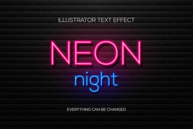 Neontexteffekt auf einem backsteinhintergrund.