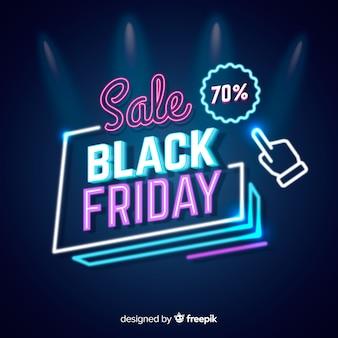 Neonverkauf schwarzer freitag mit zeiger