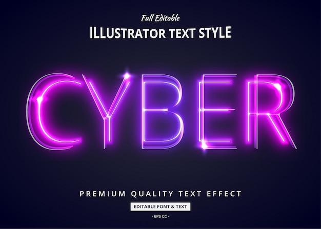 Neonverlauf lila text style effekt