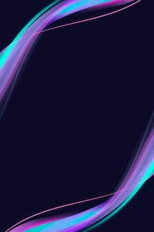 Neonviolette kurvenrahmenvorlage