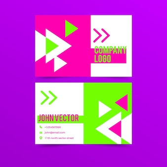 Neonvorlage für visitenkarten
