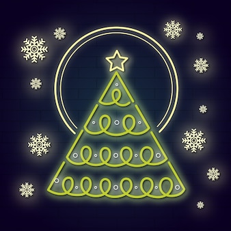 Neonweihnachtsbaumkonzept