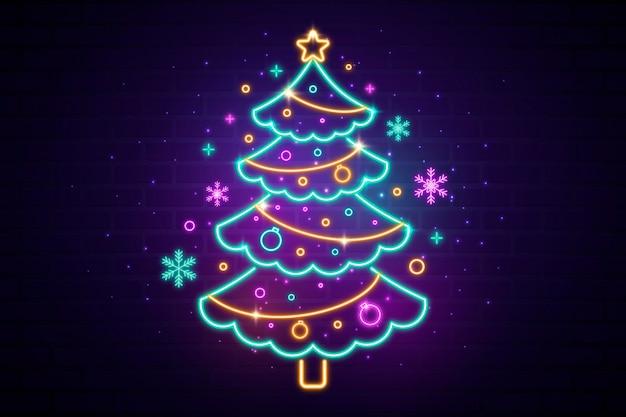 Neonweihnachtsbaumschablone
