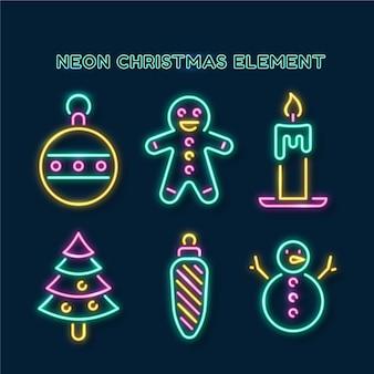 Neonweihnachtselemente setzen
