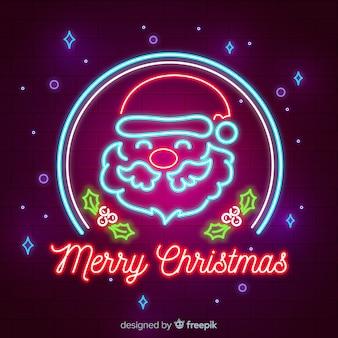 Neonweihnachtshintergrund