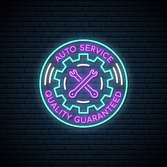 Neonzeichen von auto service.