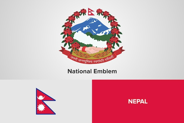 Nepal national emblem flag vorlage