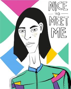 Nett, mich illustration zu treffen