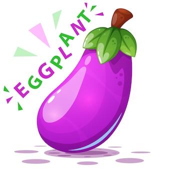 Nette auberginenabbildung