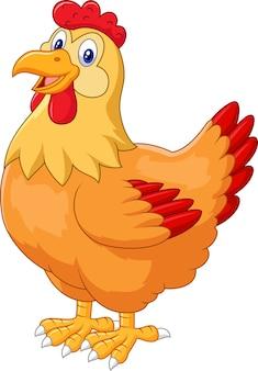Nette aufstellung der hühnerhenne