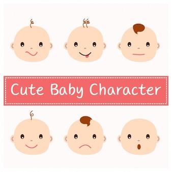 Nette baby-gesichter design