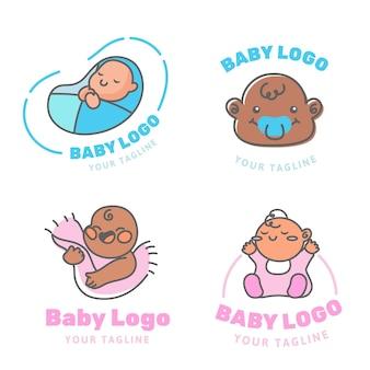 Nette baby-logo-sammlung