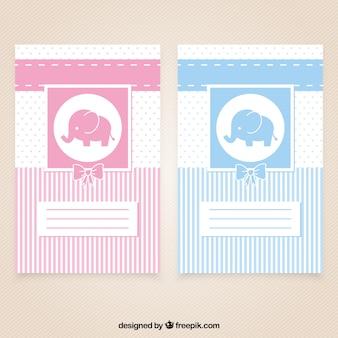 Nette babypartykarten