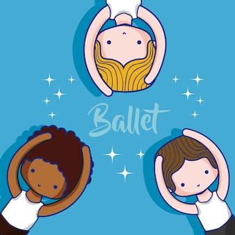 Nette ballettjungen