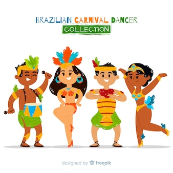 Nette brasilianische karnevalstänzersammlung