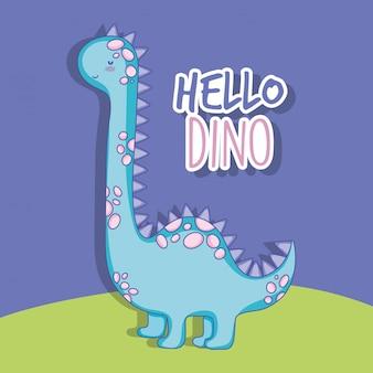 Nette brontosaurusdino-tierwild lebende tiere