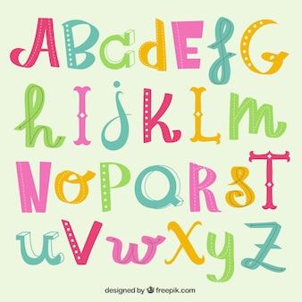 Nette buchstaben des alphabets
