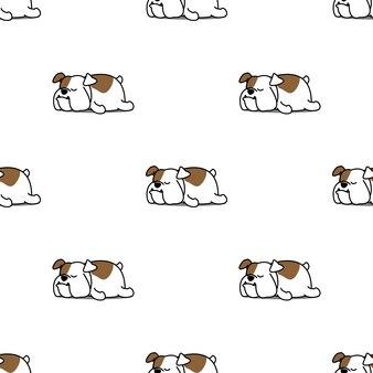 Nette bulldogge, die nahtloses muster schläft