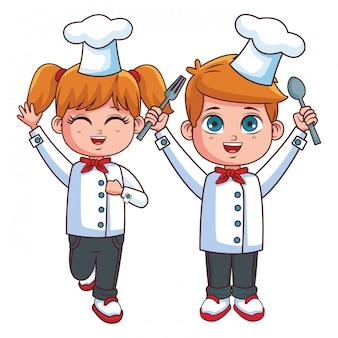 Nette chefkindkarikatur