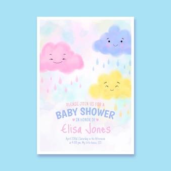 Nette chuva de amor babypartyeinladung