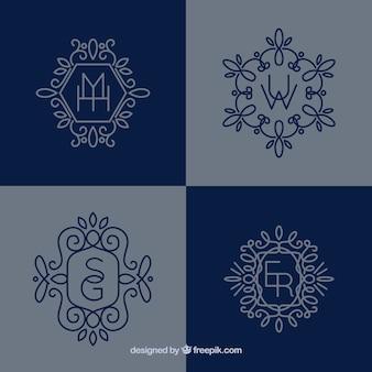 Nette dekorative monogramme