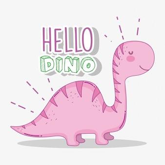 Nette diplodocus dino-tierwild lebende tiere