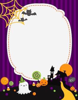 Nette einfache halloween-karte