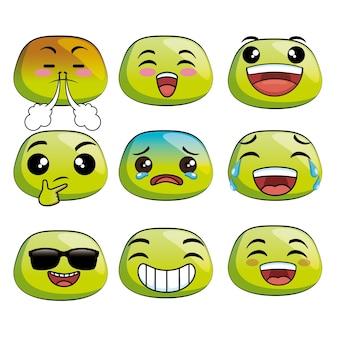 Nette emoji-karikaturikonen