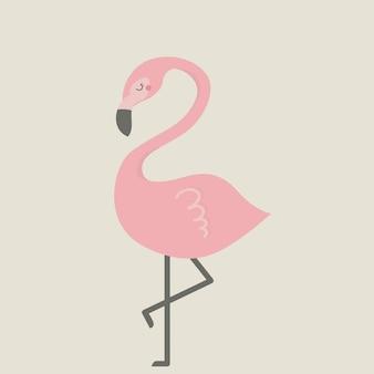Nette flamingoillustration