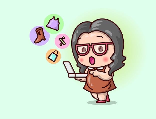 Nette frauen, die brille tragen, kaufen online.
