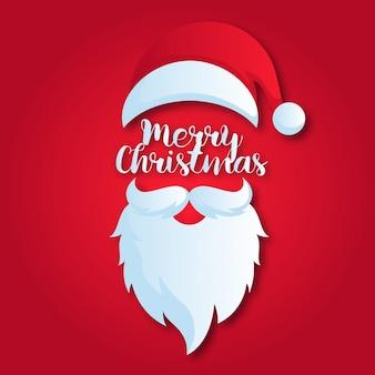 Nette frohe weihnacht-papierkunst-karten-illustration