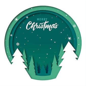 Nette frohe weihnachtsgrußkarte