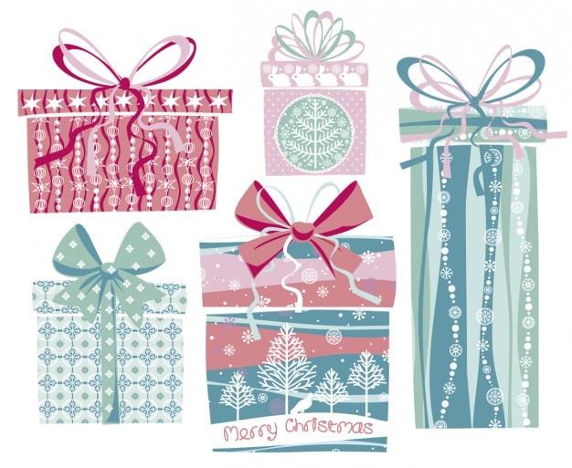 Nette geschenke in pastellfarben