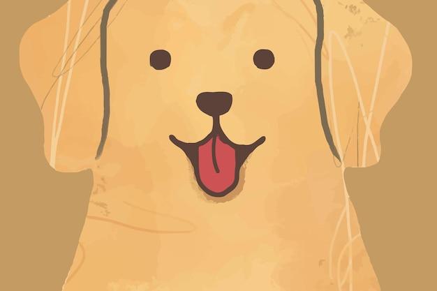 Nette gezeichnete illustration des labradorhundehintergrundvektors hand