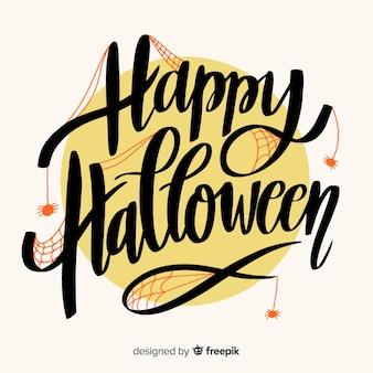 Nette glückliche halloween-beschriftung