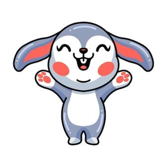 Nette glückliche kleine kaninchenkarikatur
