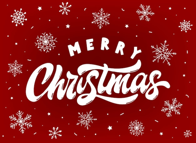Nette grußkarte der frohen weihnachten