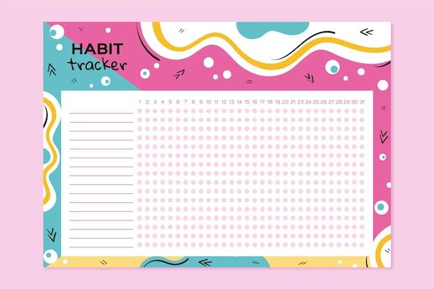 Nette habit tracker vorlage
