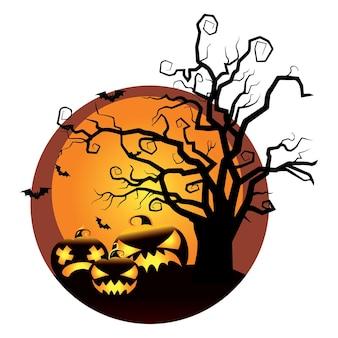 Nette halloween-hintergrundillustration