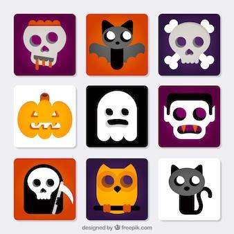 Nette halloween-icons