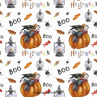 Nette halloween-muster im herbst stil
