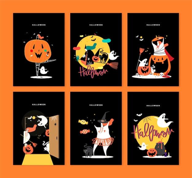 Nette halloween-tageskonzeptillustration