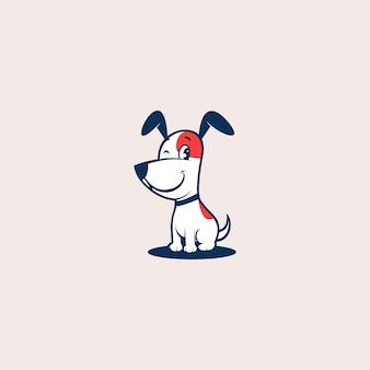 Nette hundelogodesign-vektorillustration