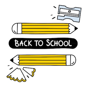 Nette illustration für zurück zu schule