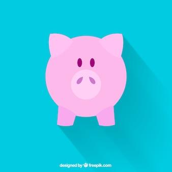 Nette isoliert sparschwein